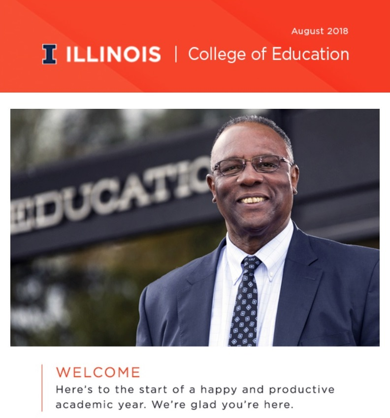 August 2018 College of Education at Illinois Newsletter