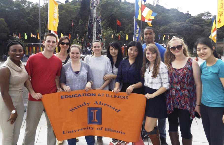 Education at Illinois students in Hong Kong