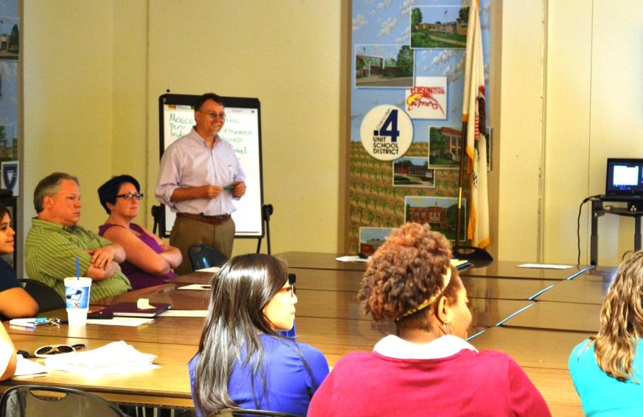 Professor Patrick Smith at a Champaign Unit 4 School District workshop
