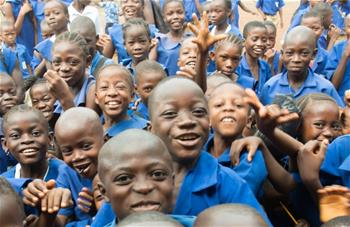 Children outside in Sierra Leone