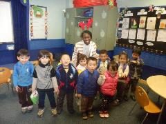 Shirice with students in Shanghai on Christmas