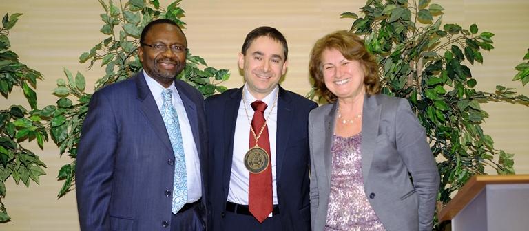 Abd-El-Khalick investiture celebrates scholarship, colleagues, and family Cornerstone