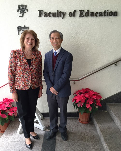 College of Education at Illinois Dean Mary Kalantzis with alumnus Alvin Leung in China