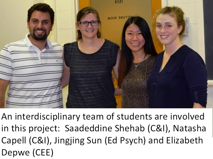 Interdisciplinary team of students: Saadeddine Shehab, Natasha Capell, Jingjing Sun, and Elizabeth Depwe