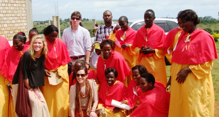 Eugene Moore with fellow volunteers in Tanzania