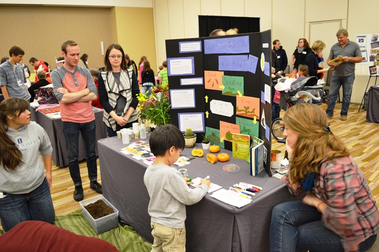 Activity table at 2014 Youth Literature Festival