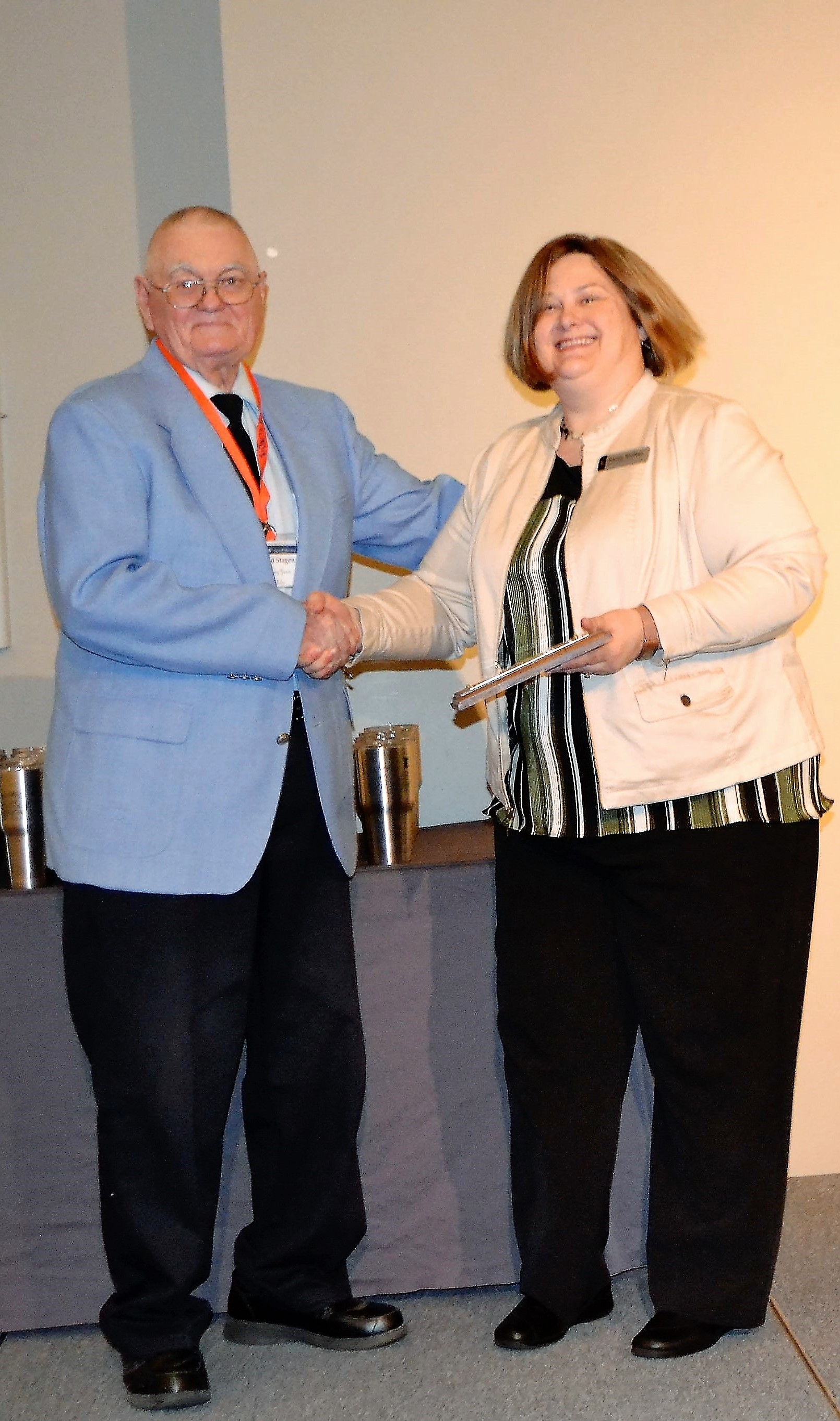 Kathy Stalter and Honoree Donald Stagen