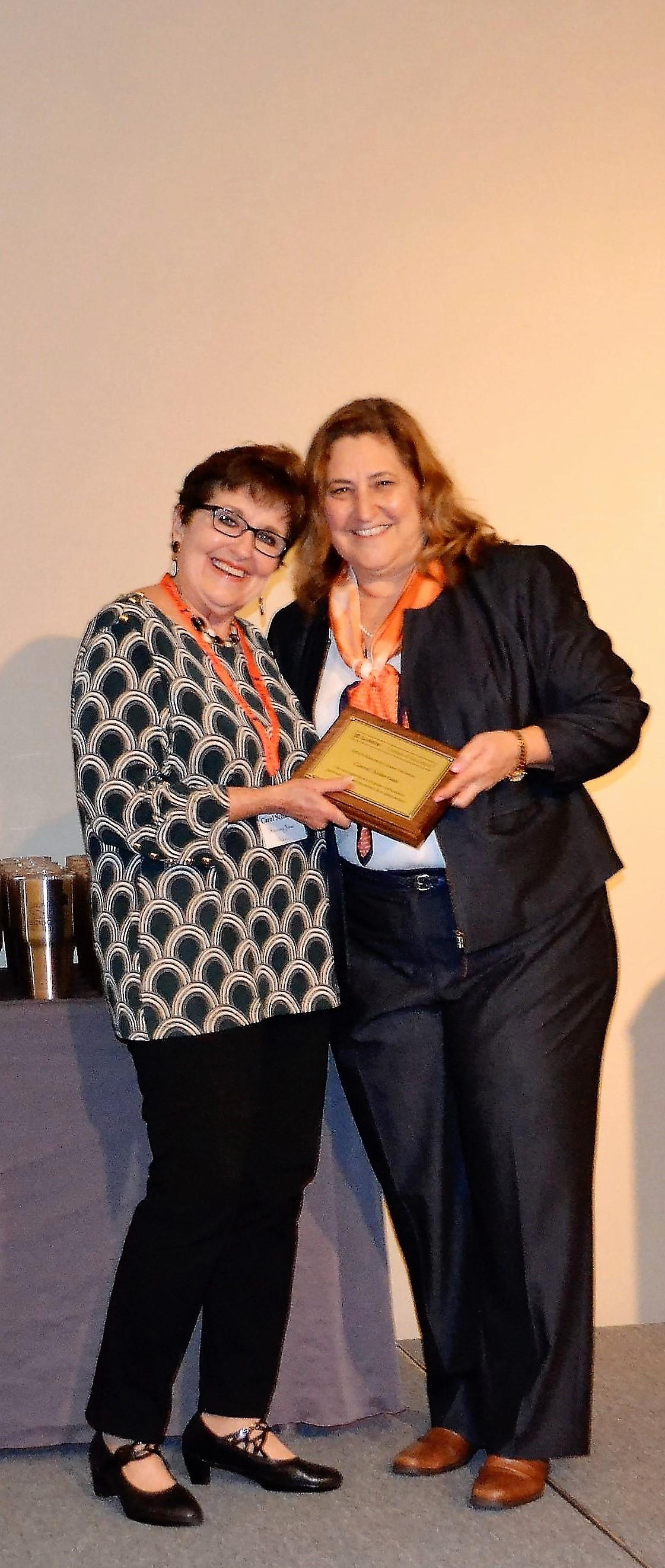 Lisa Monda-Amaya and Honoree Carol Scharlau